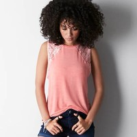 AEO SOFT & SEXY LACE MUSCLE TEE