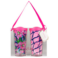 Lilly Pulitzer Insulated Tumbler Set of 2 - Cute As Shell / Trippin'