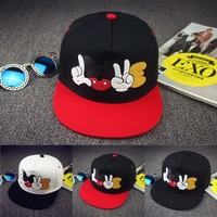 2016 New Brand Summer Cartoon Mickey Baseball Cap Snapback Hats For Men Women Cute Mouse Hip Hop Caps Casquette Hat