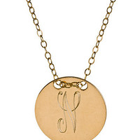 Max & Chloe - Miriam Merenfeld Personalized Circle Tag Necklace - Max and Chloe