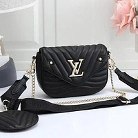 LV Louis Vuitton Women Fashion Leather Crossbody Satchel Bag