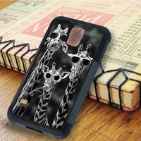 Giraffes with sunglasses   For Samsung Galaxy S6 Cases   Free Shipping   AH0917