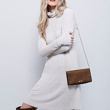 Free People Womens Mod Turtleneck Dress