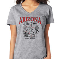 Arizona State Info V-Neck Tee