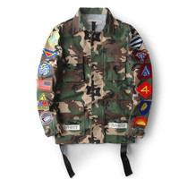 High Quality Mens Womens Justin Bieber Camouflage Off-White Jacket Kanye West Fashion Military Camo Off White Jackets And Coats