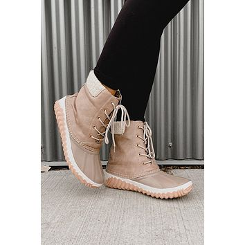 Raining On My Parade Duck Boots (Taupe)
