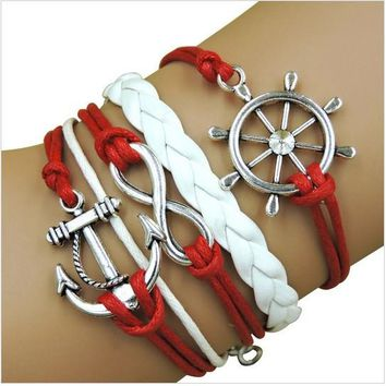 Rope Bracelet Red and White Sailor