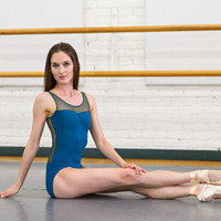 Custom Tank Leotard with Pinch Front - Kaila style