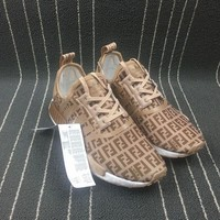 DCCKBE6 Adidas Boost Fendi x Nmd R1 Women Men Shoes Sneakers