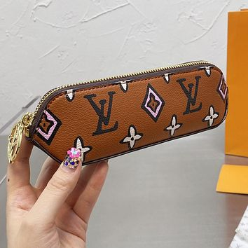LV Louis Vuitton new letter printing pattern pencil case cosmetic brush bag #6