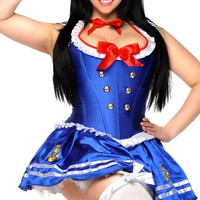 Plus Size Sexy First Mate Sailor Corset Costume