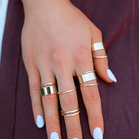 Thick & Thin Ring Set