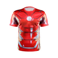 Marvel Super Heroes Avenger 3D Printed T-Shirts sport T shirt Men Compression Armour Base Layer Thermal Under fitness Shirt