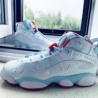 Nike Air Jordan 6 RINGS New Fashion Women High Top Sports Leisure Shoes