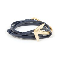 Anchor Brass Half Cuff