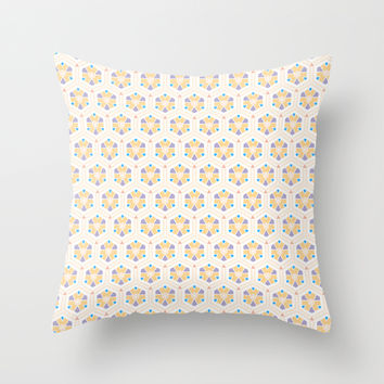 Abstract Geometric Kids Pattern Throw Pillow by Cinema4design