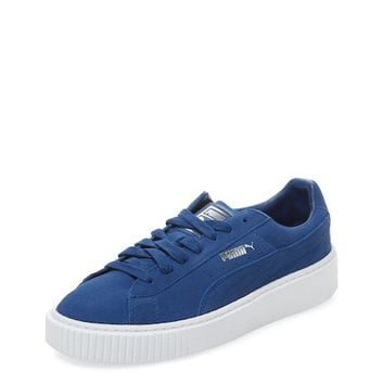 Suede Platform Low Top Sneaker by PUMA at Gilt