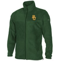 Columbia Baylor Bears Flanker Full Zip Fleece Jacket - Green