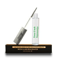 Luxsy Eyelash and Eyebrow Growth Serum - *Limited Sale* - All Natural Unscented Hair Rejuvenator for Women and Men - Free of Harsh Chemicals - Bathes Lashes, Brows and Mustaches in Nutrient Rich Oil Restoring Follicle Health - Mascara Brush for Easy Applic