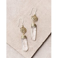 Visionary Clear Quartz Fair Trade Earrings