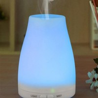 Ultrasonic Humidifier Aromatherapy Oil Diffuser Cool With Color LED Lights Waterless Auto Shut-off