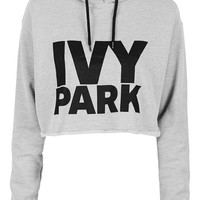 Cropped Logo Detailed Hoodie by Ivy Park - Topshop