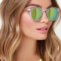 Party Hopper Clear Mirrored Sunglasses