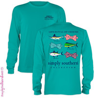 Simply Southern Life Is Full Of Choices Bow Sea Girlie Long Sleeve T Shirt