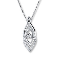 Diamonds in Rhythm Diamond Accents Sterling Silver Necklace