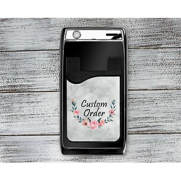 Personalized Cell Phone Caddy | Monogram Phone Wallet | Custom Order