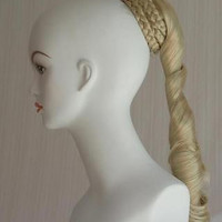 Long Wavy Switch Pigtail Hairpiece I Dream of Genie Ponytail Belly Dance Hairdo