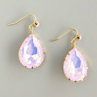 Soft Pink Calico Earrings