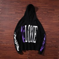 Luluma Palm angel x VLONE Drop Shoulder Personality Print Loose Hoodies