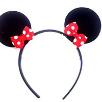 Disney Mickey Mouse Minnie Mouse Ears Headband Costume Accessory :M2 (Mickey Black)
