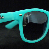 Rayban Wayfarer RB2140 Sunglasses Blue Turquoise Ray ban New from Sunglasses For All