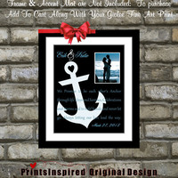Anchor Nautical Wedding Gift Song Lyric Vows: Most Popular Wedding Anniversary Gifts Engagement Print Unique Anchor Picture Home Decor Art