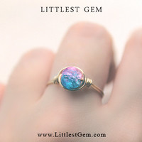Cotton Candy Ring - unique rings - custom