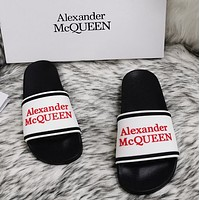 Alexander McQueen 2020 classic pattern flat shoes and slippers-10