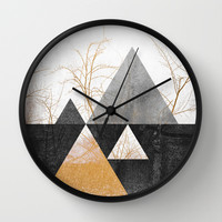 Branches / 1 Wall Clock by Elisabeth Fredriksson