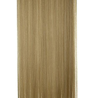 S-noilite Women Ladies 26 Inches Long Straight 5 Clips in on Hair Extensions Half Full Head One Piece (Ash Blonde Mix Bleach Blonde)