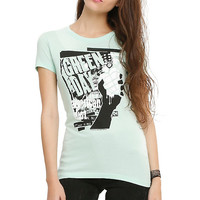 Green Day American Idiot Mint Girls T-Shirt