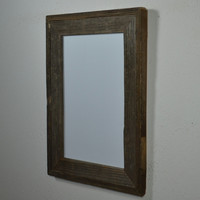 8 x12 flat style wood picture frame earth friendly reclaimed barnwood
