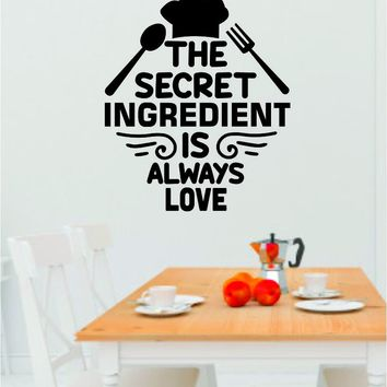 Secret Ingredient Love Quote Wall Decal Sticker Kitchen Room Art Vinyl Inspirational Funny Family Cook Chef