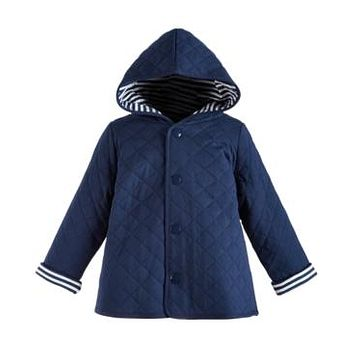 First Impressions Baby Boys Cotton Quilted Reversible Jacket, Various Sizes, Colors