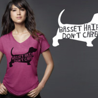 Basset Hound Dog Hair T-shirt
