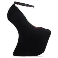 Jeffrey Campbell Street Cred in Black Suede at Solestruck.com