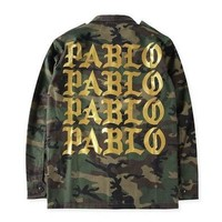 Men's Fashion Cool Coat Tyrant Gold PABLO Printing Camouflage Jacket [8833670412]