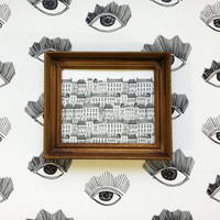 Removable Wallpaper // Or use as Shelf Liner // Bright Eyes Print // 6 ft, 8ft, and 12 ft rolls available