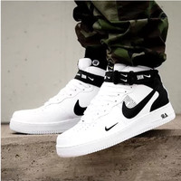NIKE AIR FORCE 1 MID 07 Tide brand simple version OW high-top sports shoes White