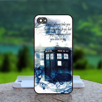 Tardis Doctor Who Smoke   - Photo Print in Hard Case - For iPhone 4 / 4s Case , iPhone 5 Case - White Case, Black Case (CHOOSE OPTION )